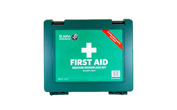 St John Ambulance Medium Standard Workplace First Aid Kit BS 8599-1:2019 St John Ambulance Medium Standard Workplace First Aid Kit BS 8599-1:2019