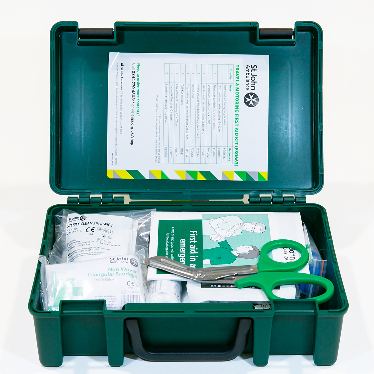 St John Ambulance Standard Travel and Motoring Workplace First Aid Kit BS 8599-1:2019