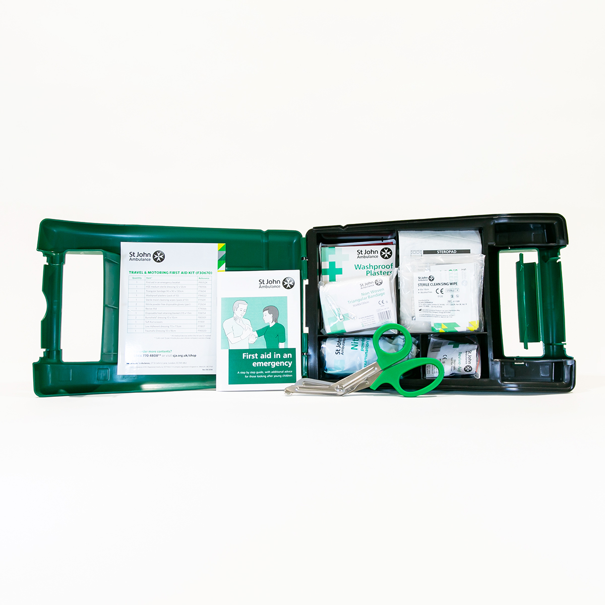 St John Ambulance Alpha Travel and Motoring Workplace First Aid Kit BS 8599-1:2019