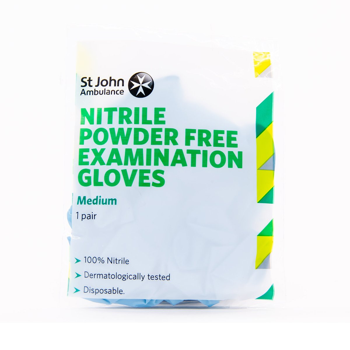 Medium Blue St John Ambulance Nitrile Powder-Free Gloves
