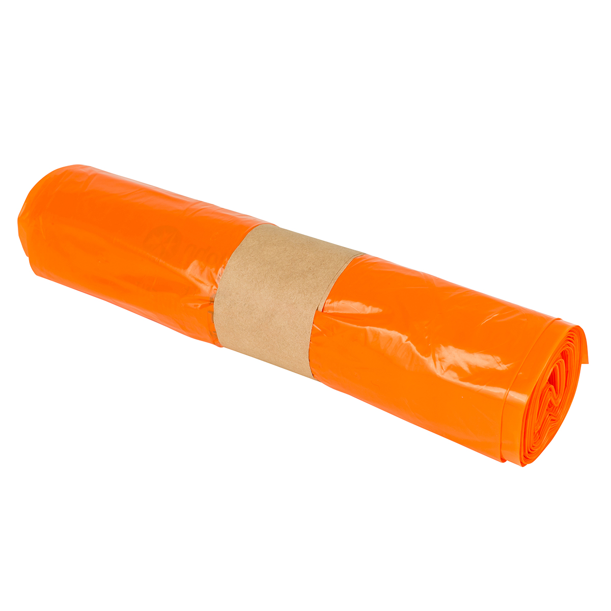 Pack of 25 24cm x 44.5cm x 65.5cm Orange Clinical Waste Bags