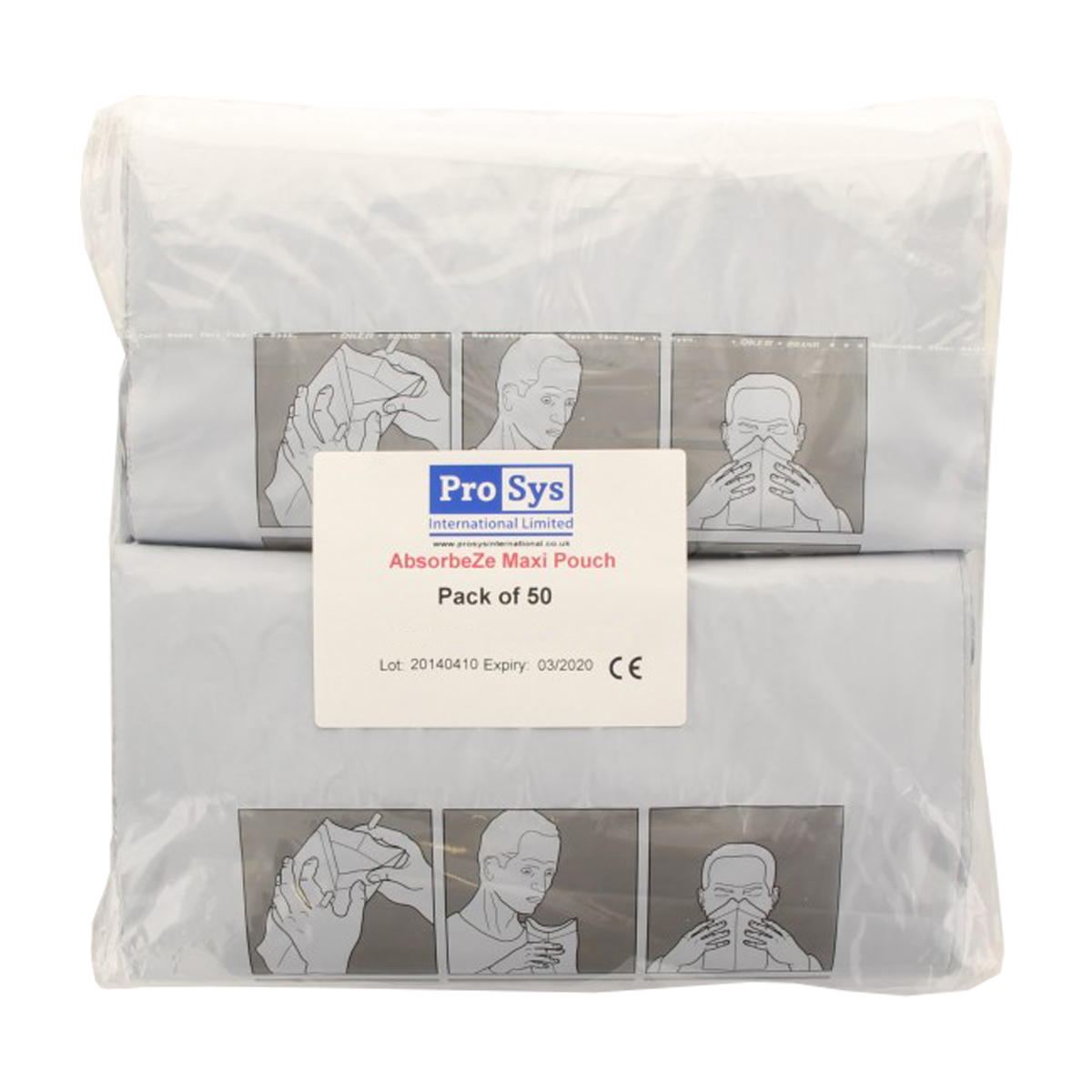 Pack of 50 AbsorbeZe Fluid Waste Bags