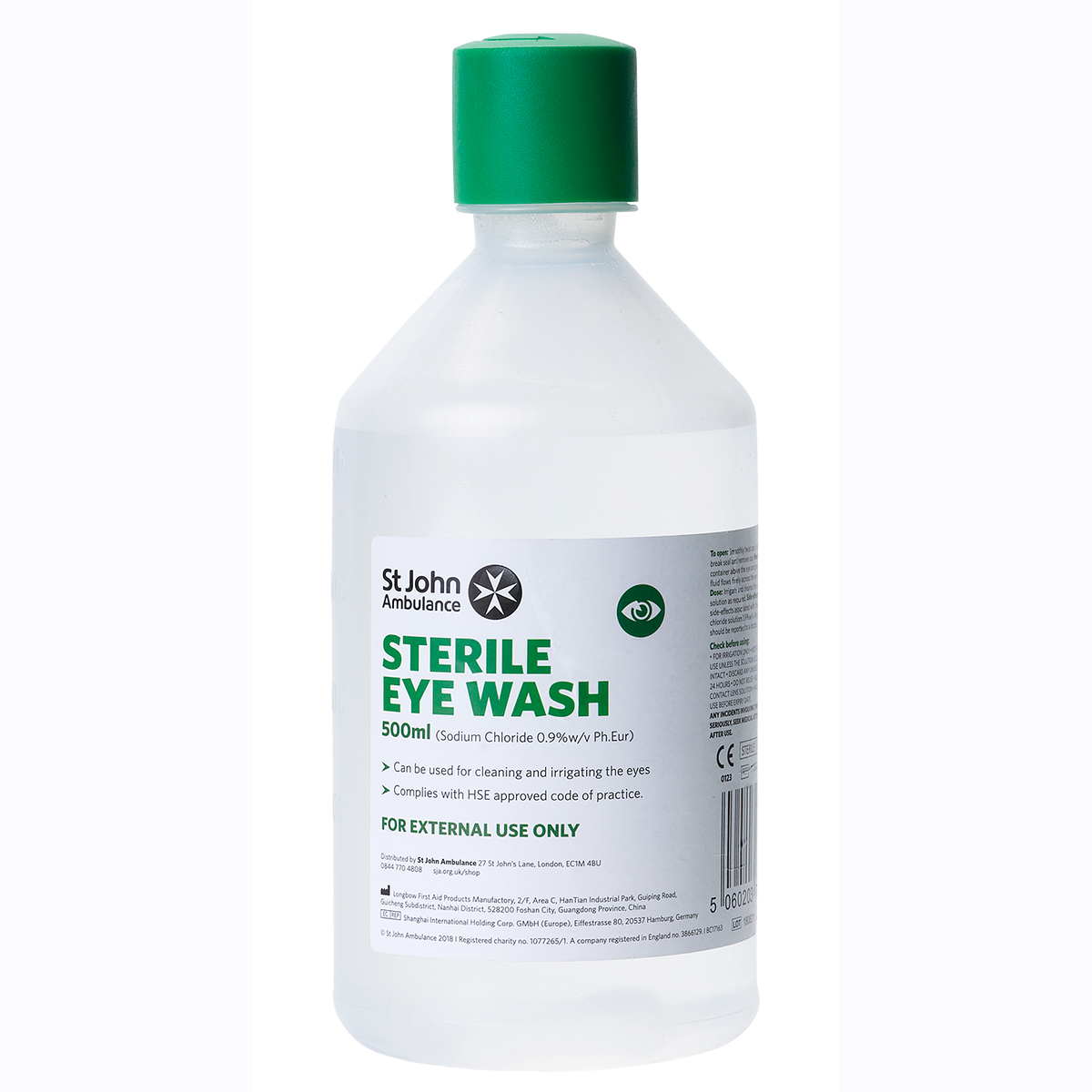 500ml St John Ambulance Eye Wash