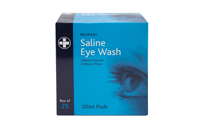 Pack of 25 20ml Eye Wash Phials Pack of 25 20ml Eye Wash Phials