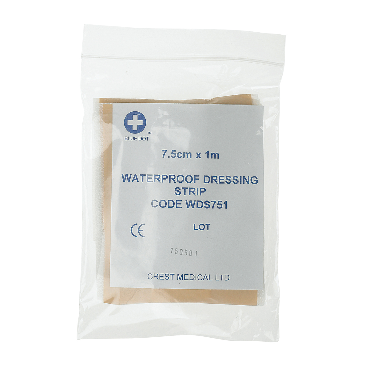 7.5cm x 1m Waterproof Plaster Dressing Strip