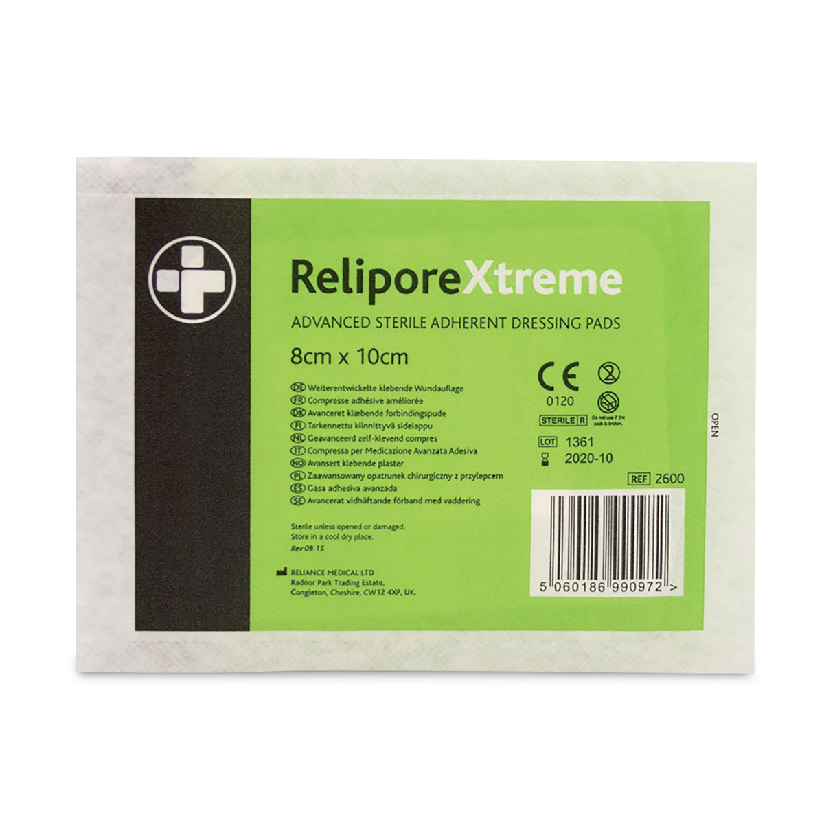 Pack of 50 8cm x 10cm ReliporeXtreme Dressing Pad