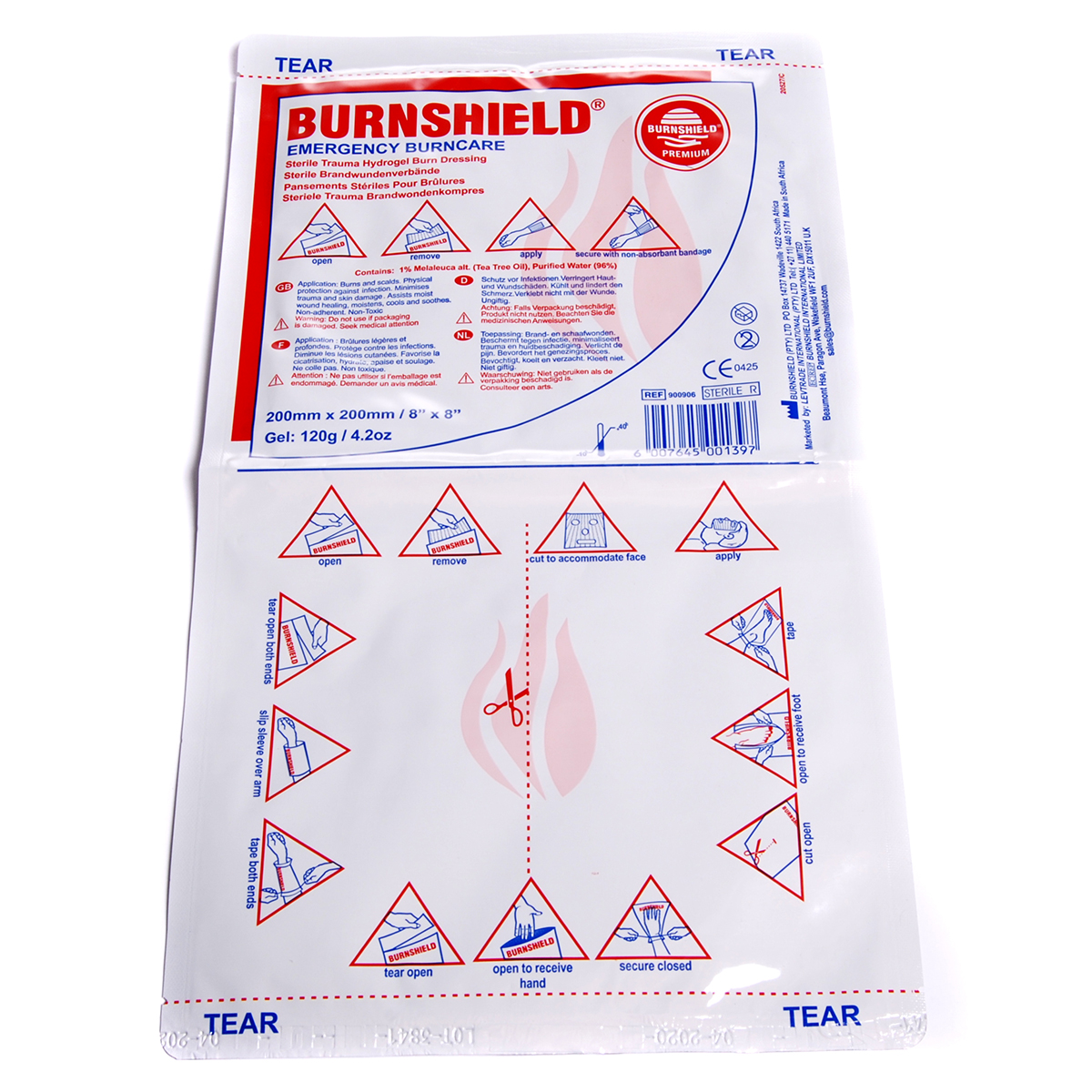 20cm x 20cm Single Burnshield® Dressing