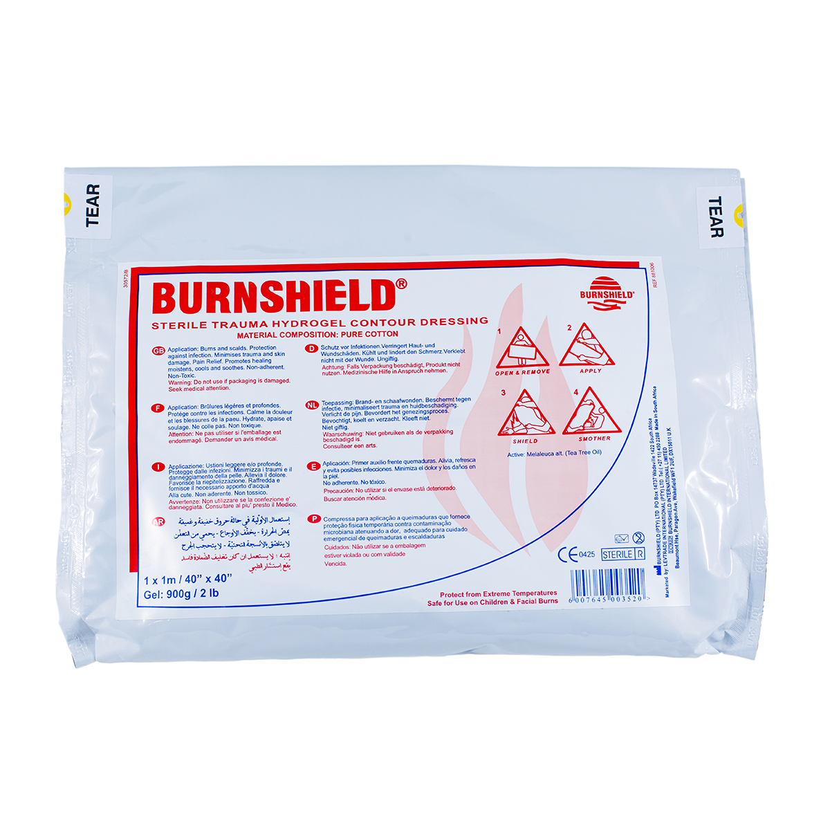 1m x 1m Half Body Burnshield® Contour Dressing