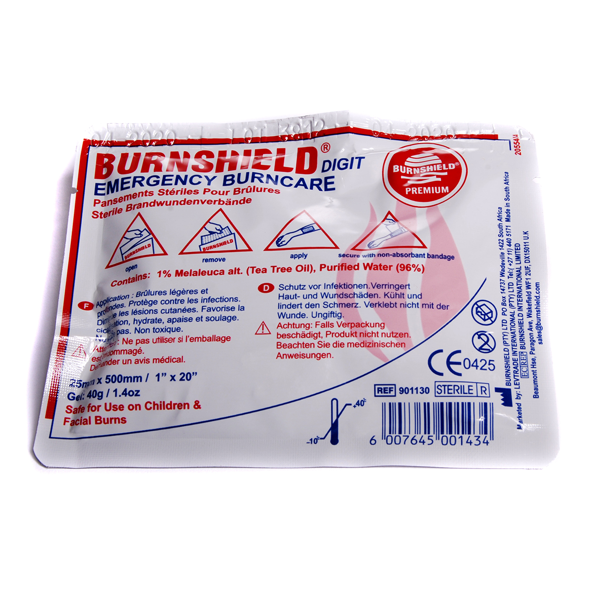 2.5cm x 50cm Burnshield® Digit Strip Dressing
