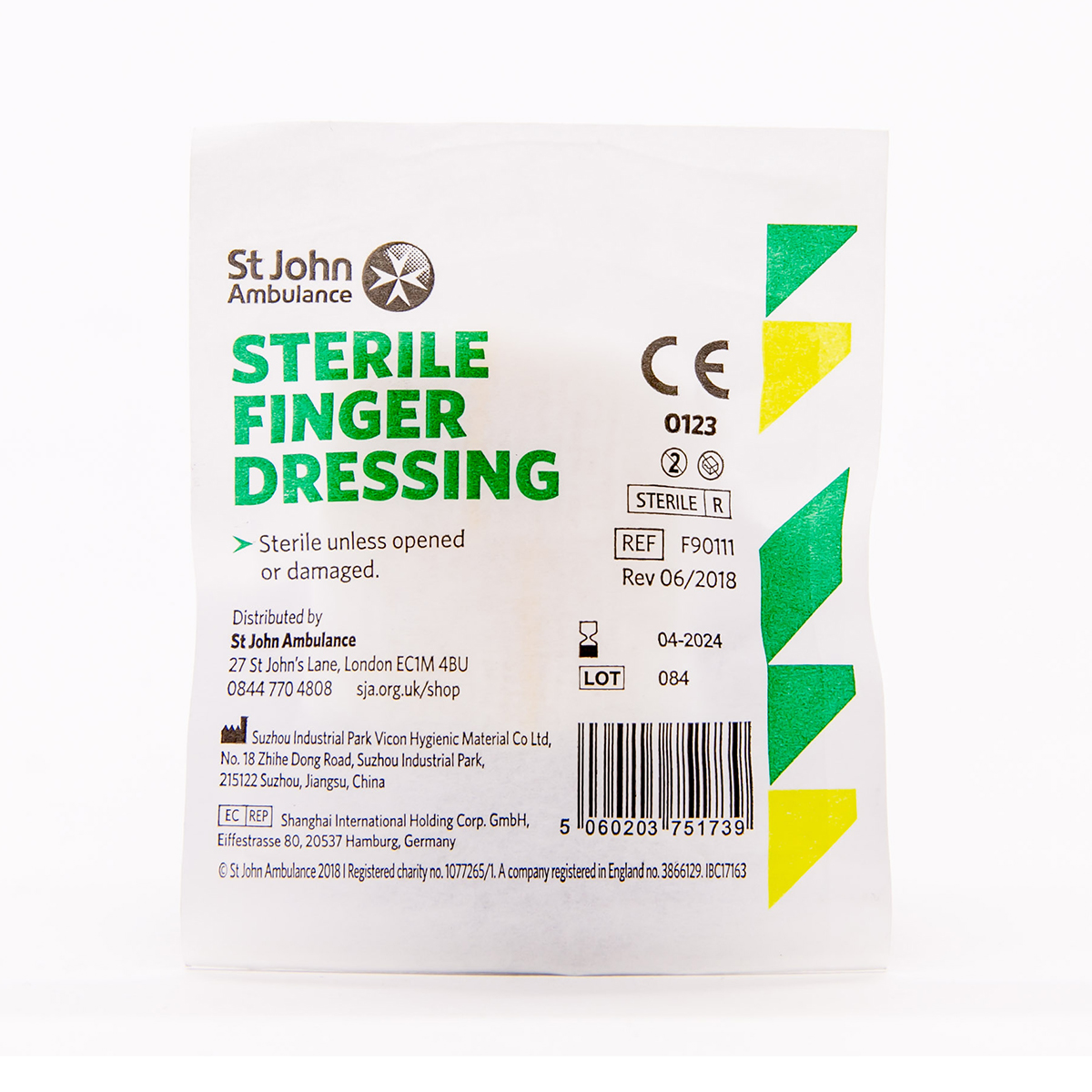 3.5cm x 3.5cm St John Ambulance First Aid Finger Dressing