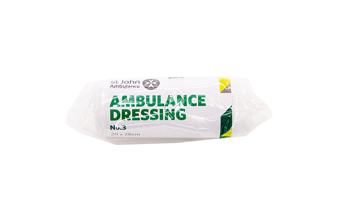20cm x 28cm St John Ambulance No.3 Ambulance First Aid Dressing