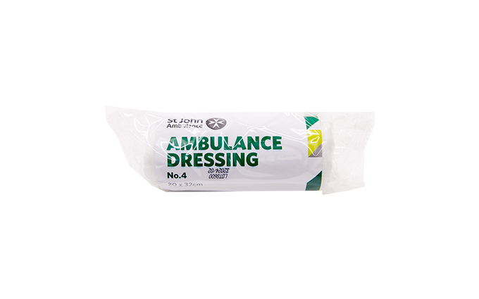 20cm x 32cm St John Ambulance No.4 Ambulance First Aid Dressing 20cm x 32cm St John Ambulance No.4 Ambulance First Aid Dressing