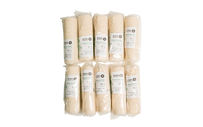 Pack of 10 15cm x 4.5m St John Ambulance Crepe Bandage Pack of 10 15cm x 4.5m St John Ambulance Crepe Bandage