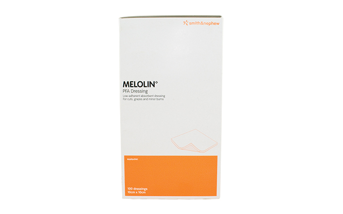 Pack of 100 10cm x 10cm Melolin Cushioned Dressing Pads Pack of 100 10cm x 10cm Melolin Cushioned Dressing Pads