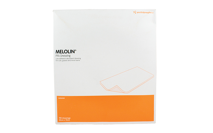 Pack of 100 10cm x 20cm Melolin Cushioned Dressing Pad Pack of 100 10cm x 20cm Melolin Cushioned Dressing Pad