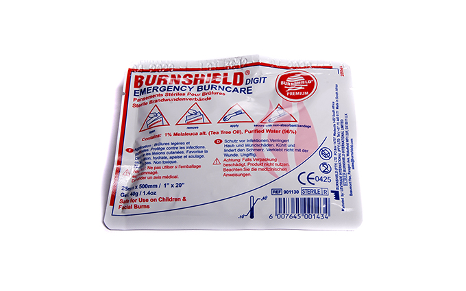 2.5cm x 50cm Burnshield® Digit/Paediatric Strip Dressing 2.5cm x 50cm Burnshield® Digit/Paediatric Strip Dressing