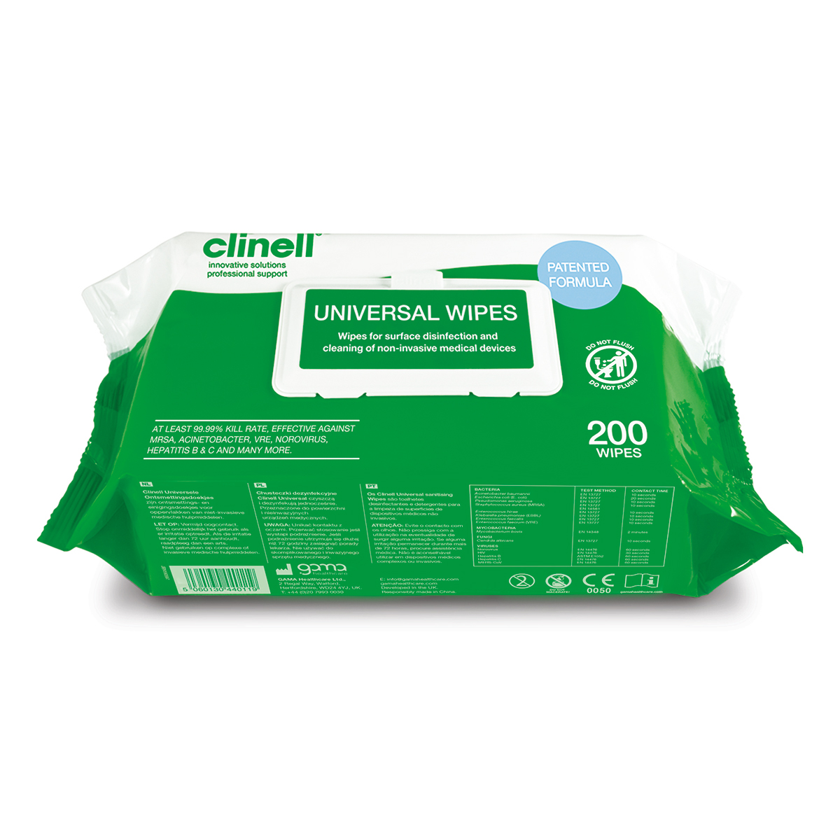 Pack of 200 Clinell® Universal Sanitising Wipes