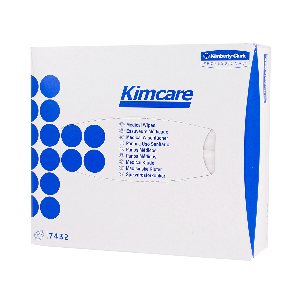 Pack of 80 Kimcare Medical Dry Wipes/Facial Tissues