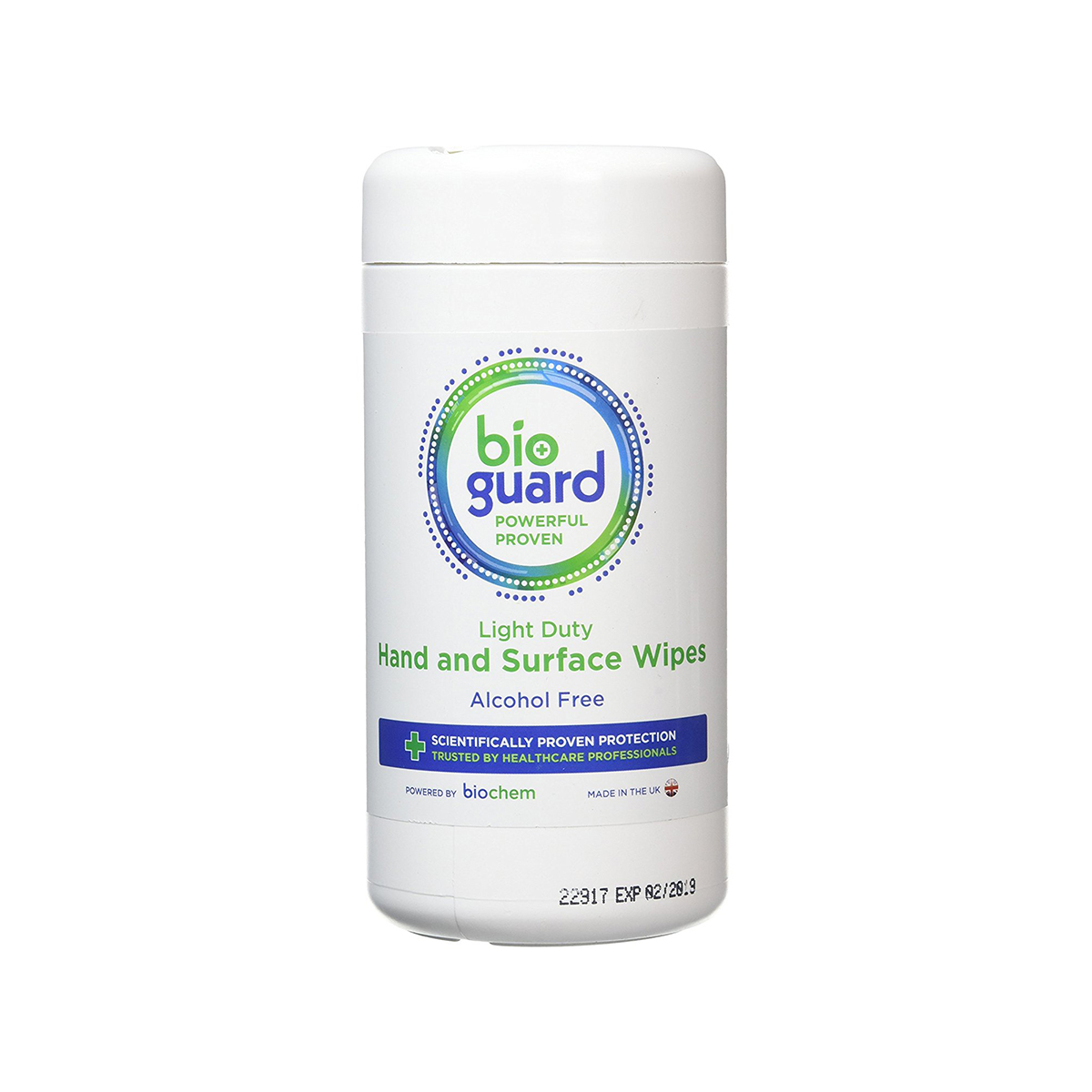 Tub of 200 Bioguard Light Duty Wipes