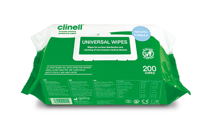 Pack of 200 Clinell® Universal Sanitising Wipes Pack of 200 Clinell® Universal Sanitising Wipes
