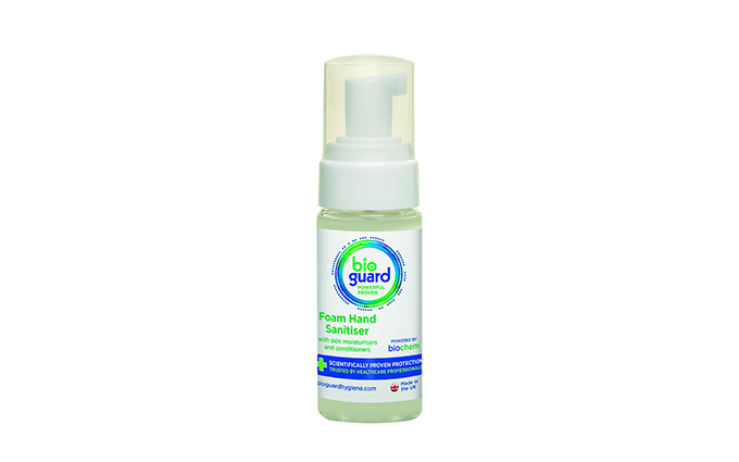 50ml Bioguard Alcohol-Free Hand and Body Sanitiser Foam 50ml Bioguard Alcohol-Free Hand and Body Sanitiser Foam