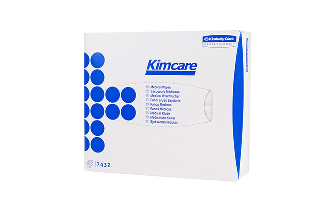 Pack of 80 Kimcare* Medical Dry Wipes and Facial Tissues Pack of 80 Kimcare* Medical Dry Wipes and Facial Tissues