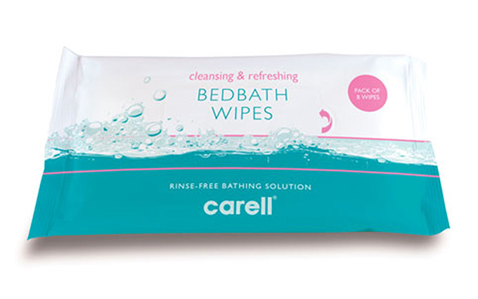 Pack of 8 Carell® Bedbath Wipes