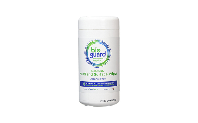 Tub of 200 Bioguard Light Duty Hand and Surface Wipes Tub of 200 Bioguard Light Duty Hand and Surface Wipes