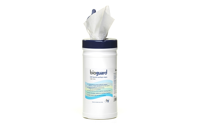 Tub of 240 Bioguard Alcohol Hand and Surface Wipes Tub of 240 Bioguard Alcohol Hand and Surface Wipes