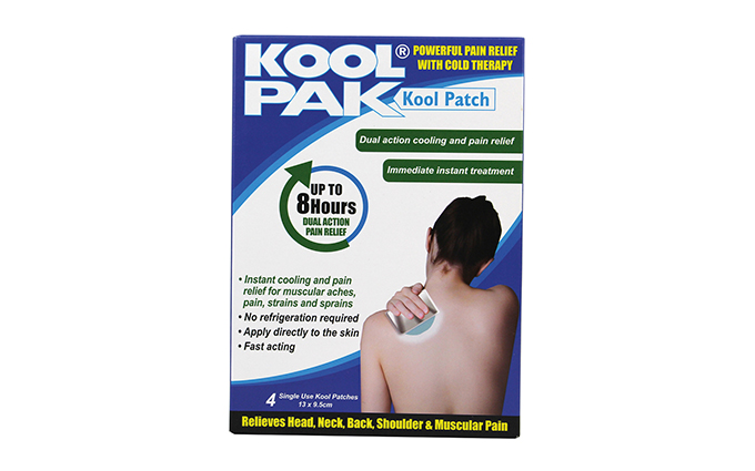 Pack of 4 13 x 9.5cm KoolPak® Kool Patch Pack of 4 13 x 9.5cm KoolPak® Kool Patch