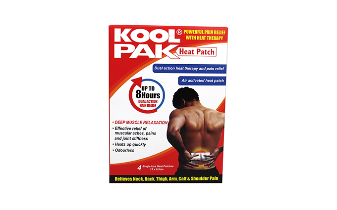 Pack of 4 13 x 9.5cm KoolPak® Heat Patch Pack of 4 13 x 9.5cm KoolPak® Heat Patch