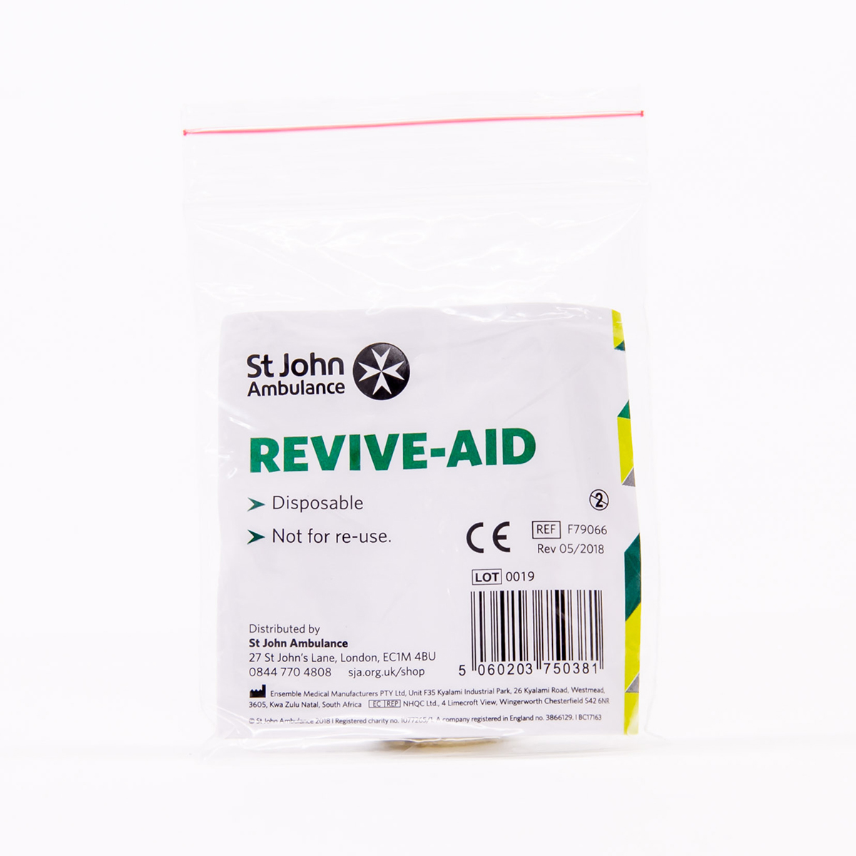 St John Ambulance Revive-Aid Face Shield