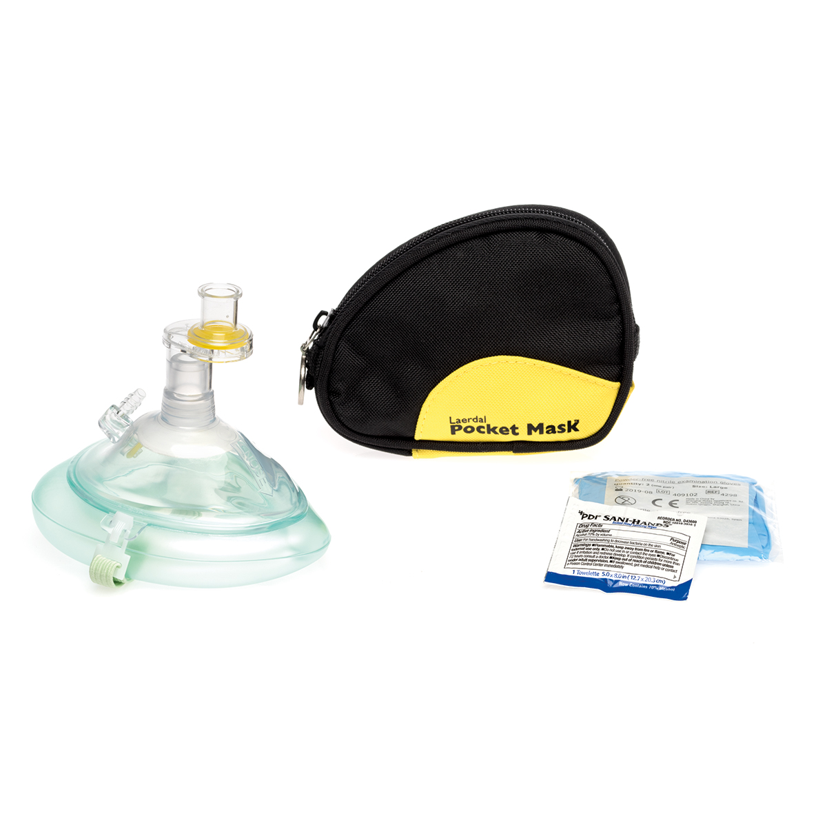 Laerdal Pocket Mask and Soft Blue Pouch
