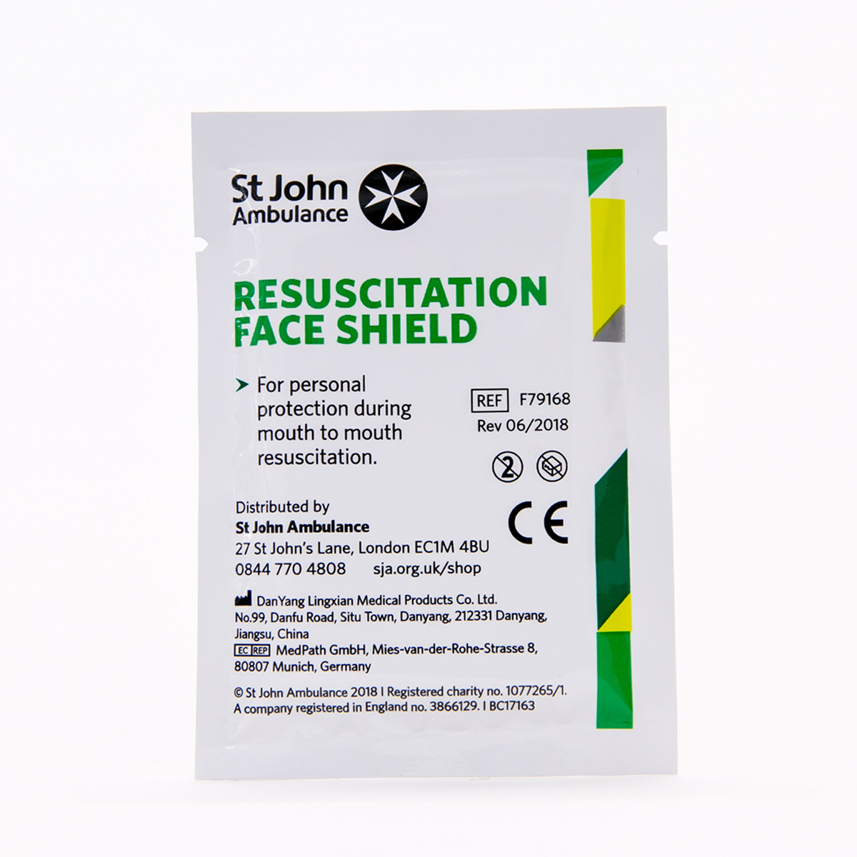 Pack of 10 St John Ambulance Face Shields