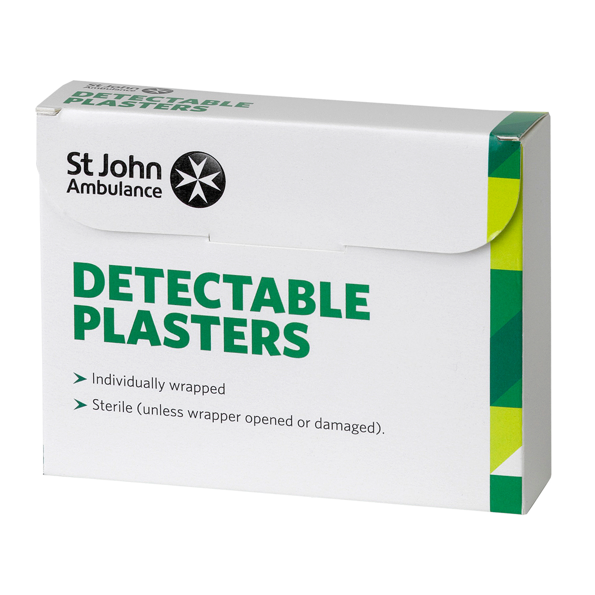 Pack of 100 Assorted Sizes St John Ambulance Blue Washproof Detectable Plasters