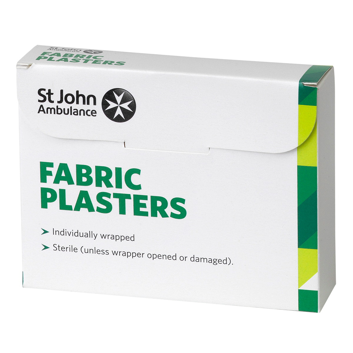 Pack of 100 Assorted Sizes St John Ambulance Fabric Plasters