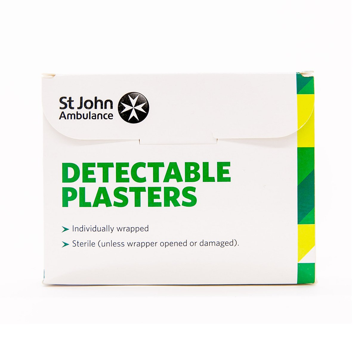 Pack of 100 7.5cm x 2.5cm St John Ambulance Blue Washproof Detectable Plasters