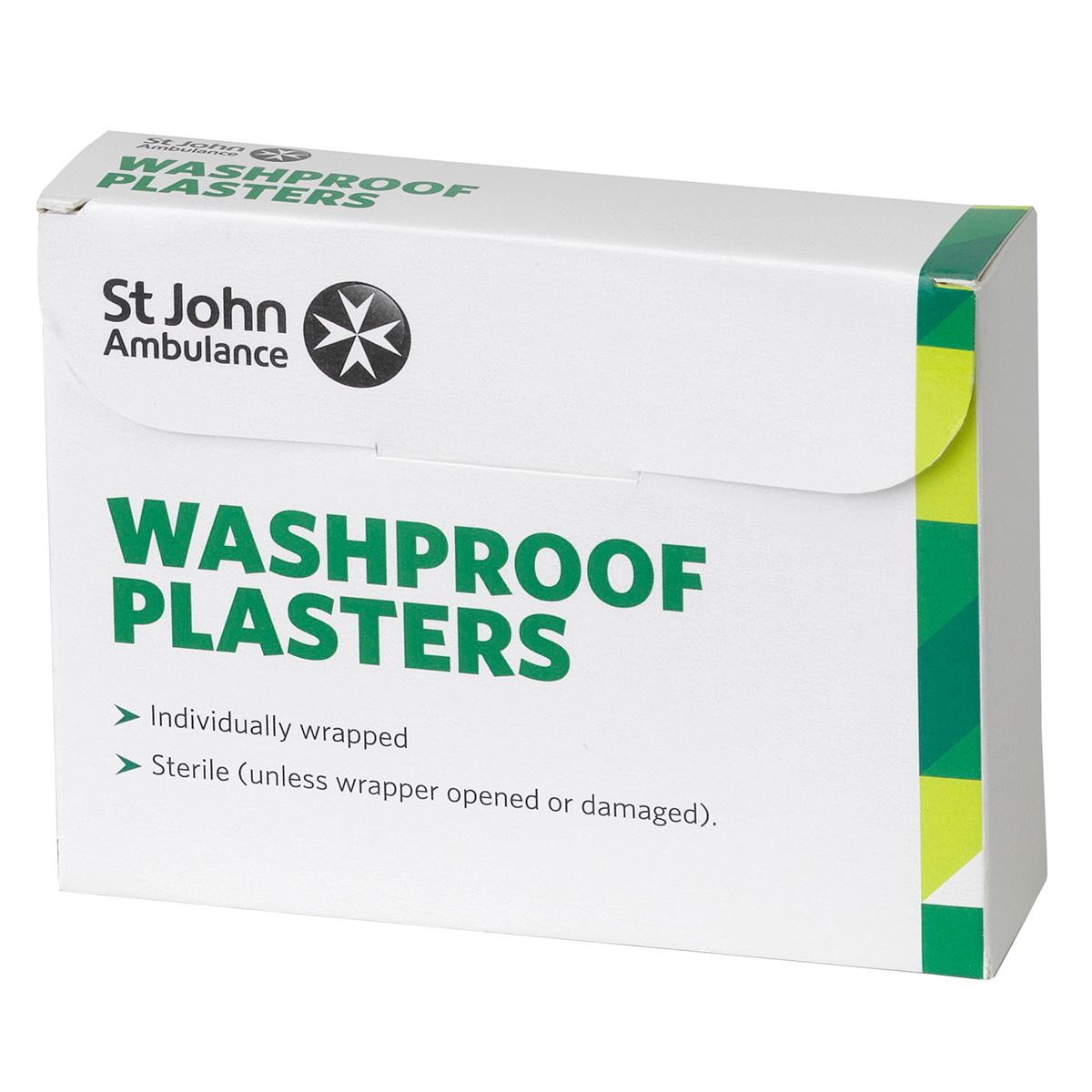 Pack of 100 7.5cm x 2.5cm St John Ambulance Clear Washproof Low Allergy Plasters