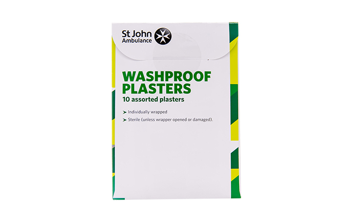 Pack of 10 Assorted Sizes St John Ambulance Washproof Low Allergy Plasters Pack of 10 Assorted Sizes St John Ambulance Washproof Low Allergy Plasters