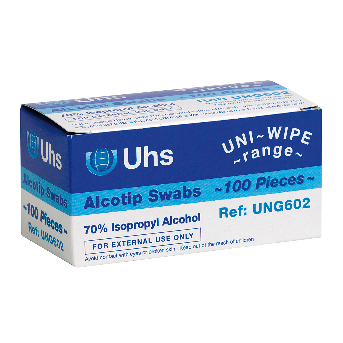 Box of 100 Alcotip Swabs