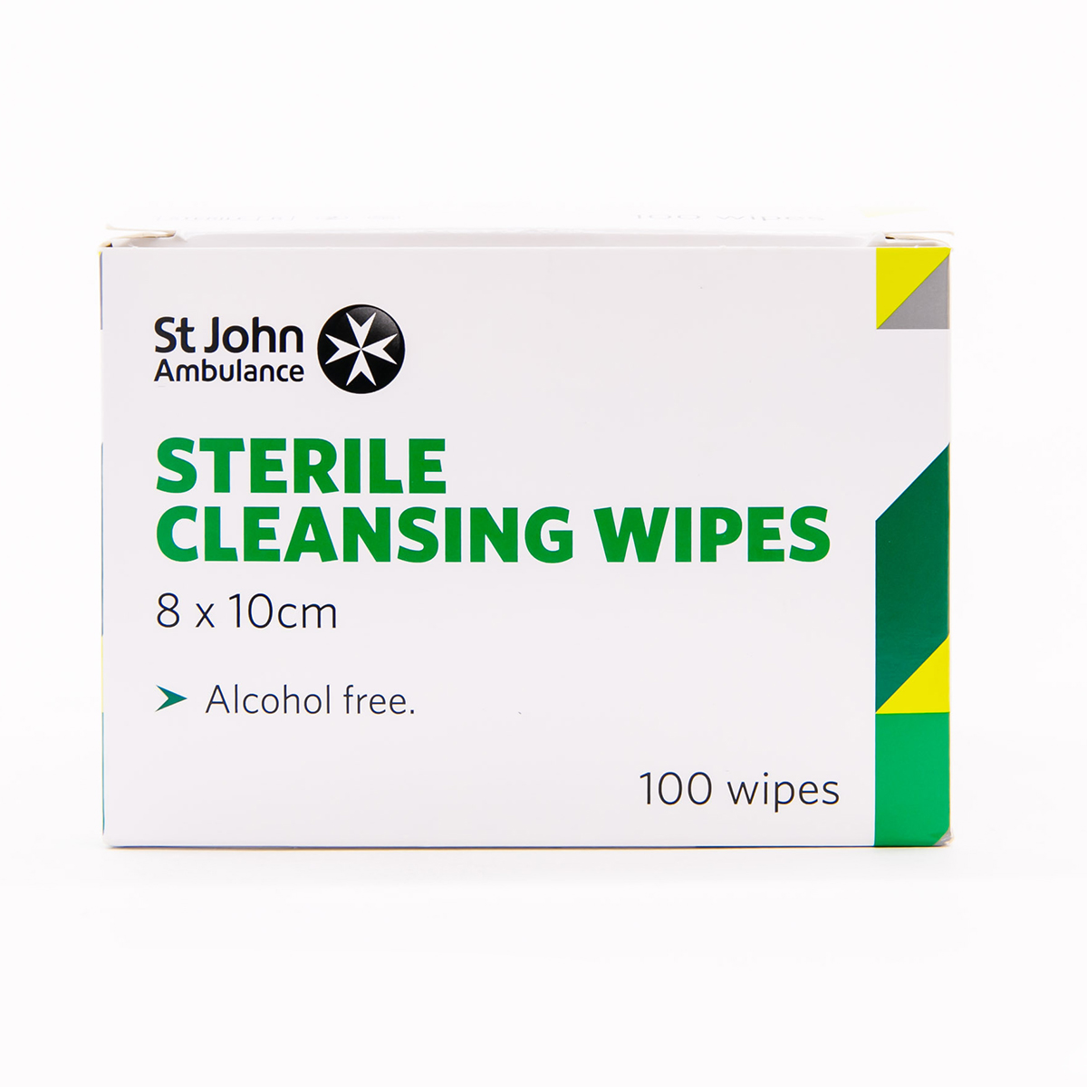 Pack of 100 St John Ambulance Sterile Cleansing Wipes
