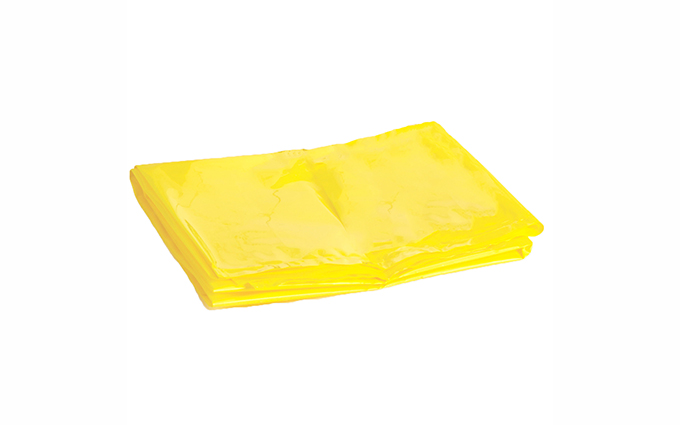 Pack of 25 27cm x 46cm Yellow Biohazard Disposal Bags