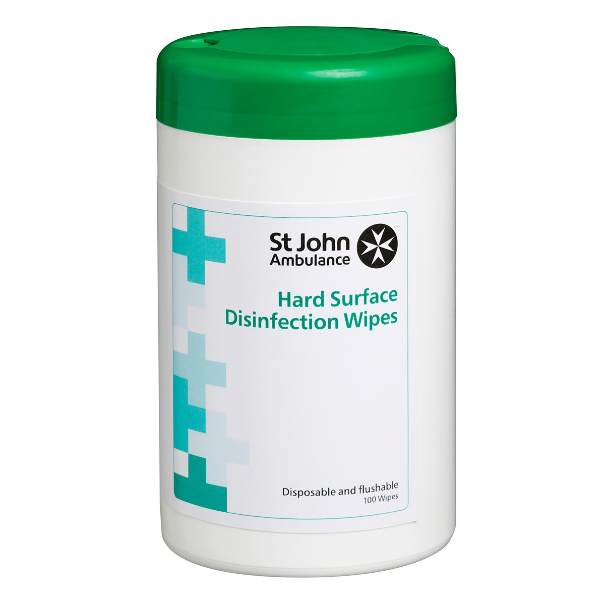 Tub of 100 St John Ambulance Hard Surface Wipes