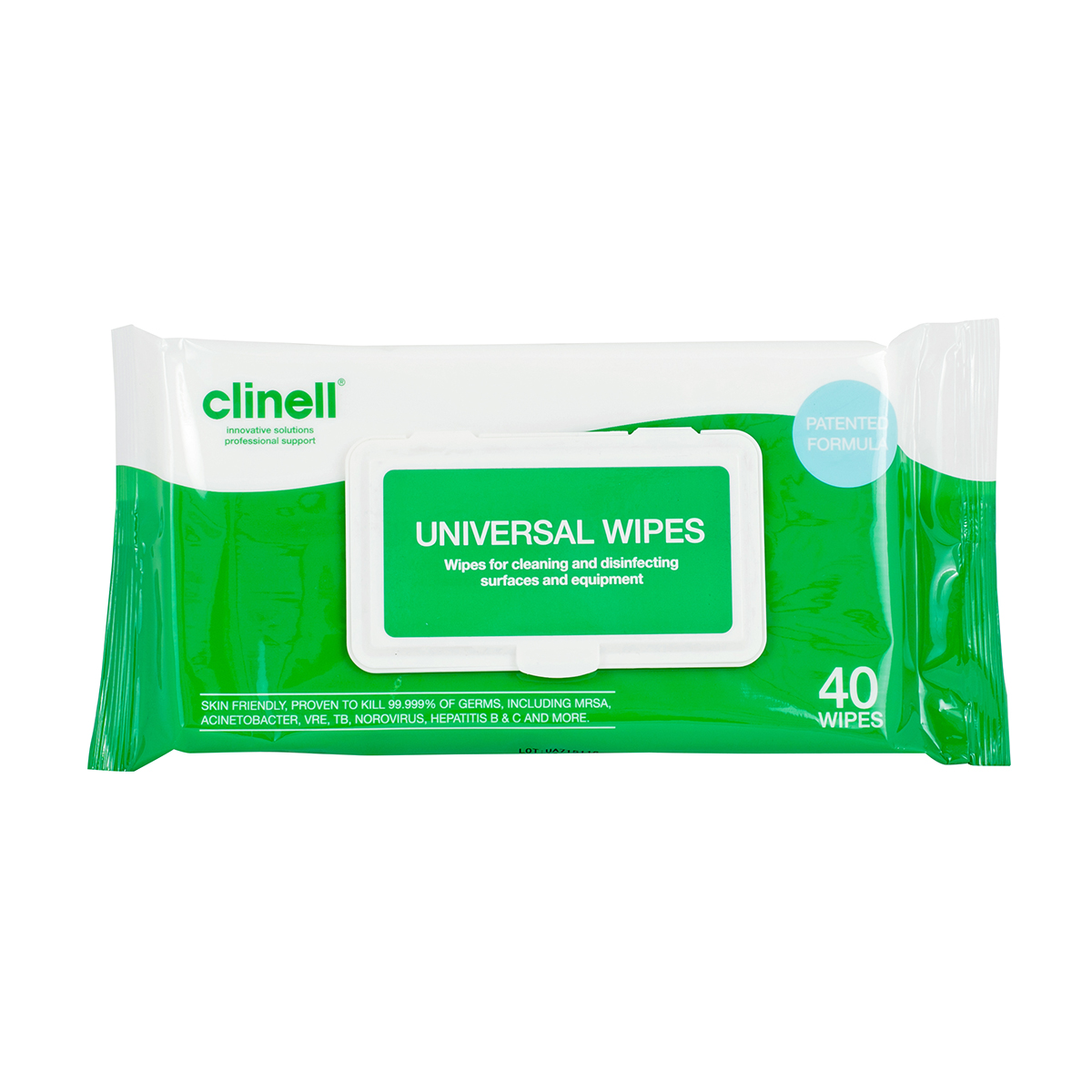 Pack of 40 Clinell® Universal Sanitising Wipes