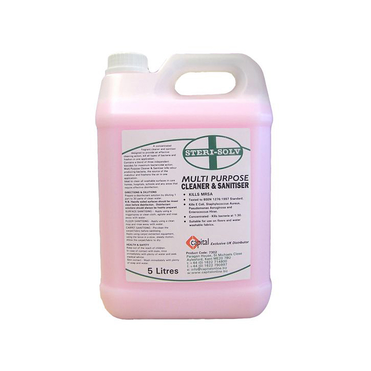 5 Litre Steri-solv Multi Purpose Cleaner and Sanitiser