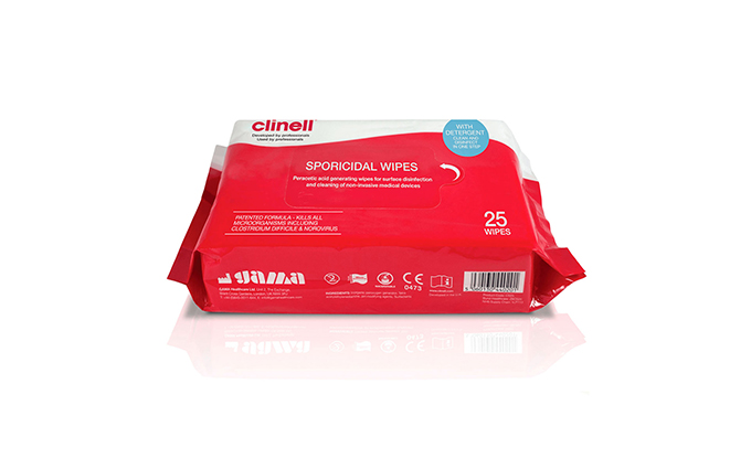 Pack of 25 Clinell® Sporicidal Wipes Pack of 25 Clinell® Sporicidal Wipes