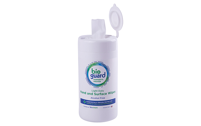 Tub of 100 Bioguard Light Duty Hand and Surface Wipes Tub of 100 Bioguard Light Duty Hand and Surface Wipes