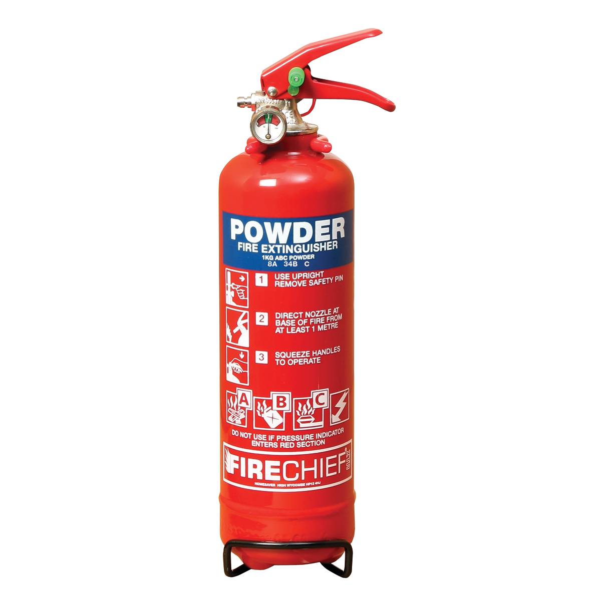 1kg Domestic Multi-Purpose Powder Fire Extinguisher
