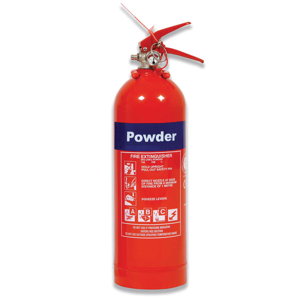 2kg Domestic Multi-Purpose Powder Fire Extinguisher