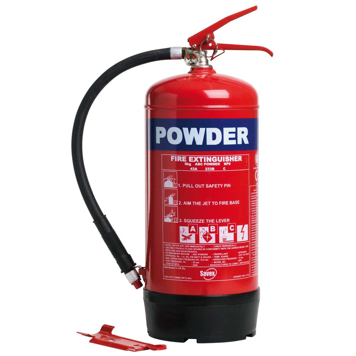 9kg Domestic Multi-Purpose Powder Fire Extinguisher